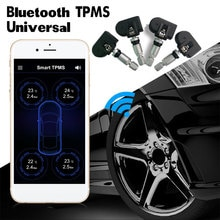 Car TPMS Bluetooth Tire Pressure Monitoring System For Android IOS Mobile Phone Car Alarm Universal