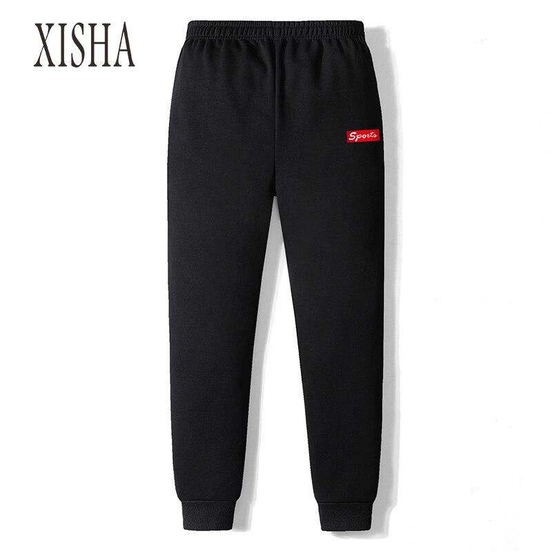 Однотонные джеггинсы, мужские черные спортивные штаны для тренировок в тренажерном зале, мужские спортивные штаны, Хлопковые Штаны для бег...
