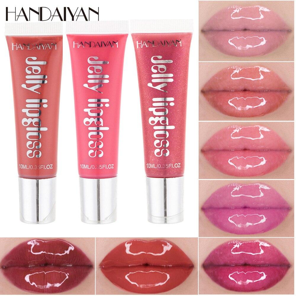 Moisturizing Gloss Plumping Lip Gloss Lip Plumper Makeup Glitter Nutritious Liquid Lipstick Cherry Jelly Oil Clear Lip Gloss недорого