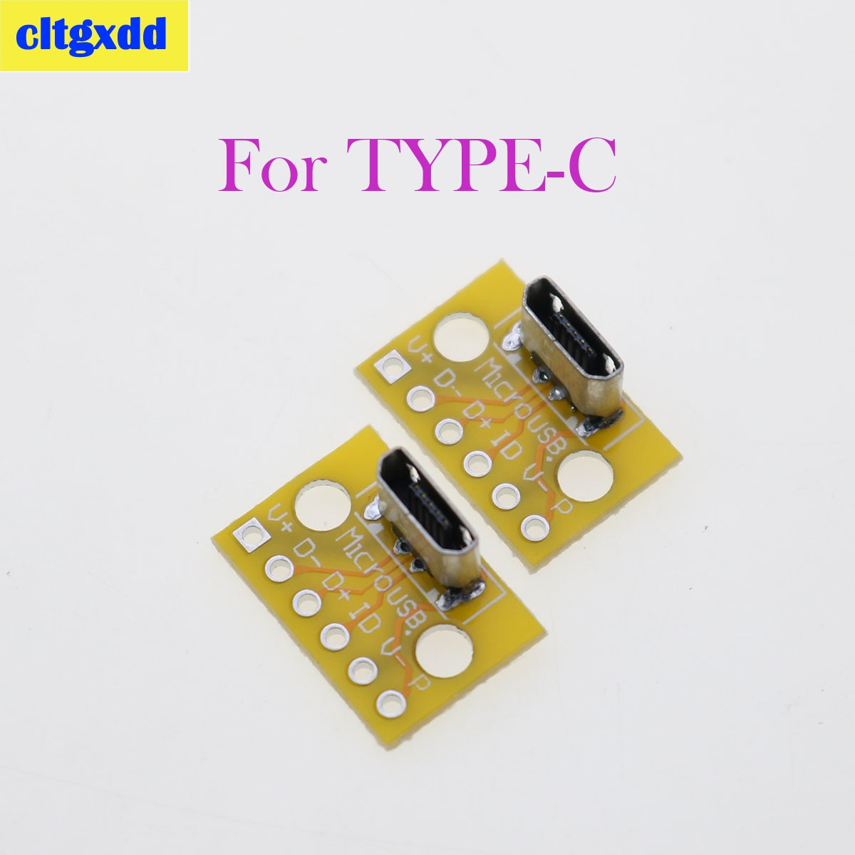 Cltgxdd 20 piezas MicroUSB USB Vertical tipo C Conector de cabeza macho...