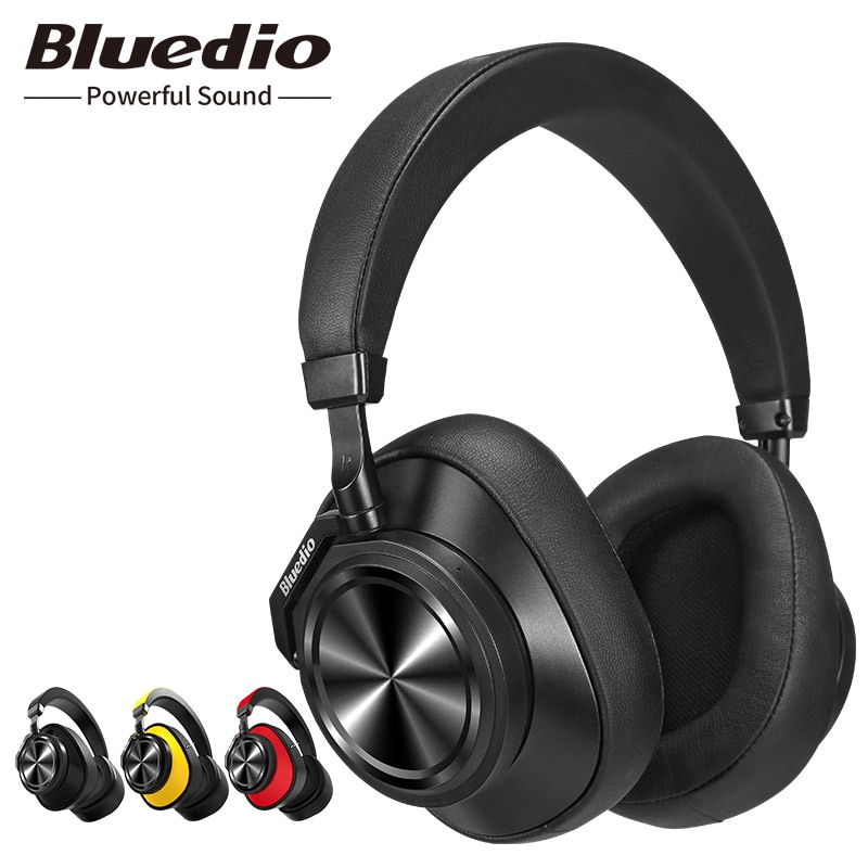 Original Bluedio T6 Active Noise Cancelling Headphones Wireless Bluetooth Headset With Microphone For Phone & Music