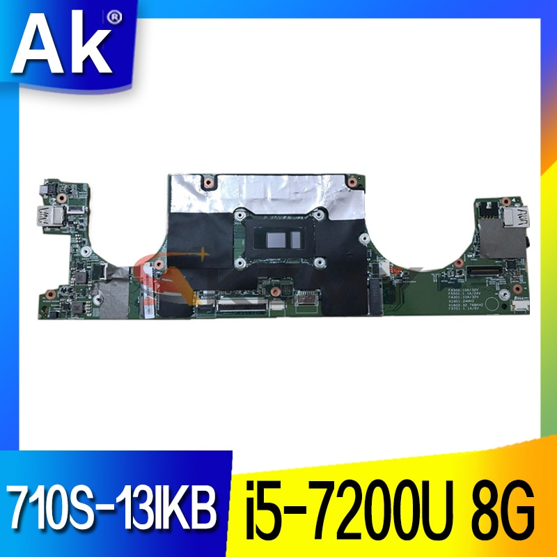 46M.0A7MB. for ideapad 710S-13IKB اللوحة الأم للكمبيوتر المحمول 80VQ وحدة المعالجة المركزية: I5-7200U(SR2ZU) ذاكرة الوصول العشوائي: 8GB FRU 5B20M36021 5B20M36034 LS711 100% اختبار
