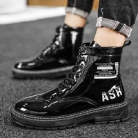 new boots mens waterproof non slip men leather shoes high top winter shoes dr motorcycle ankle boots black army boots man 2021