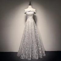 embroidery flower mesh cheongsam bling sequins qipao slash neck elegant pleated wedding party dresses female banquet vestidos