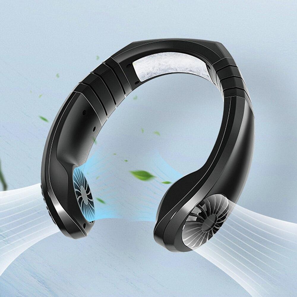 232*230*60 Mm deportes cuello colgante ventilador al aire libre conveniente carga Usb pequeño ventilador eléctrico ventilador colgante ghanging cuello Fan