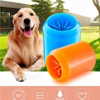 dog paw cleaner cup for small large dogs pet feet washer portable pet cat dirty paw cleaning cups soft silicone foot wash tools