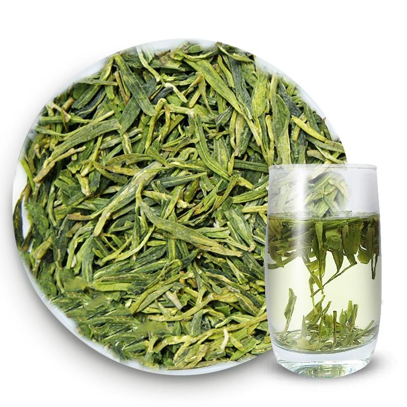 Té Verde famoso de calidad dragón bien té chino té verde de China Lago Oeste dragón salud cuidado de belleza para delgazar té