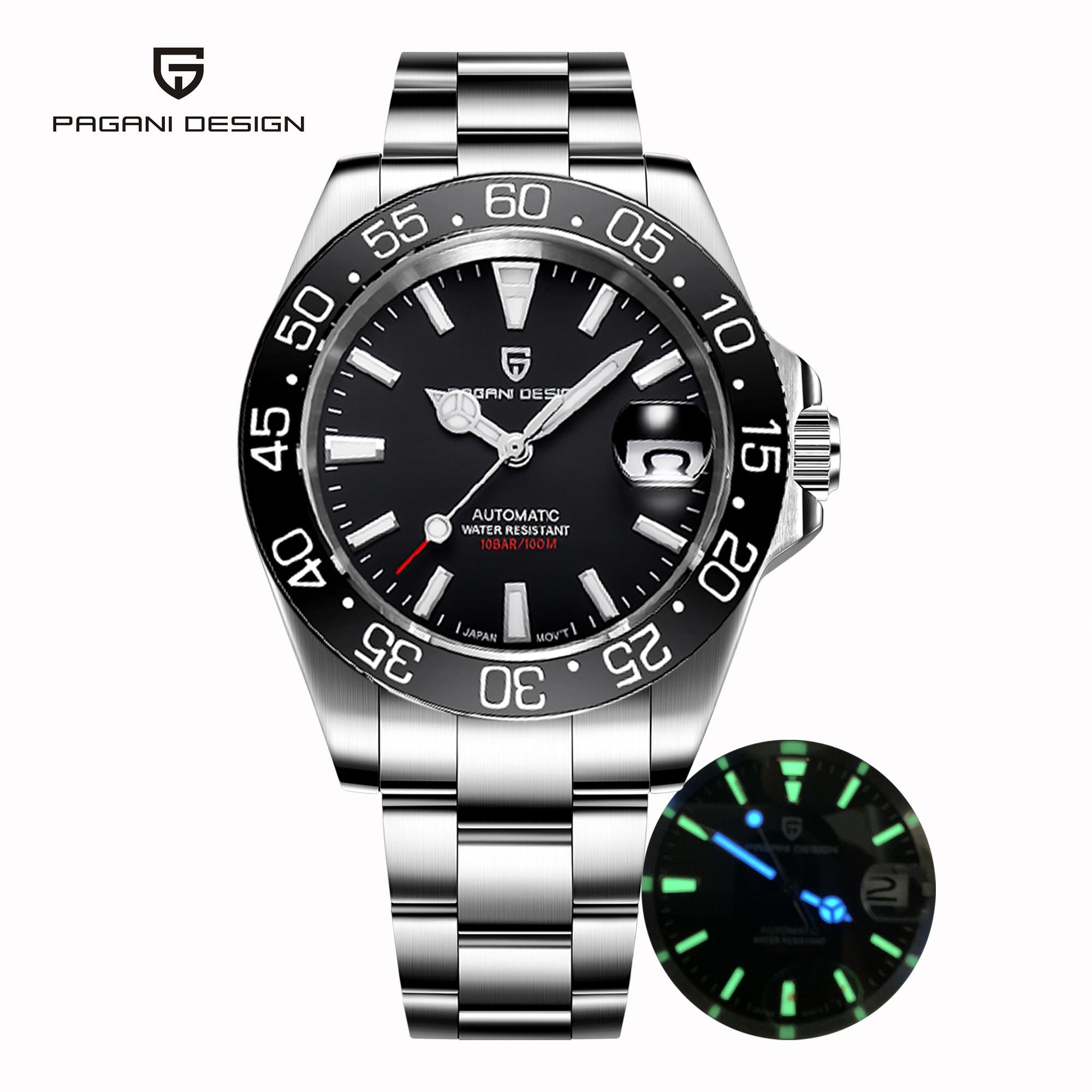 PAGANI Design-ساعة رجالية ، أوتوماتيكية ، ميكانيكية ، رياضية ، 10 بار ، مقاومة للماء ، ياباني ، NH35 ، 2020