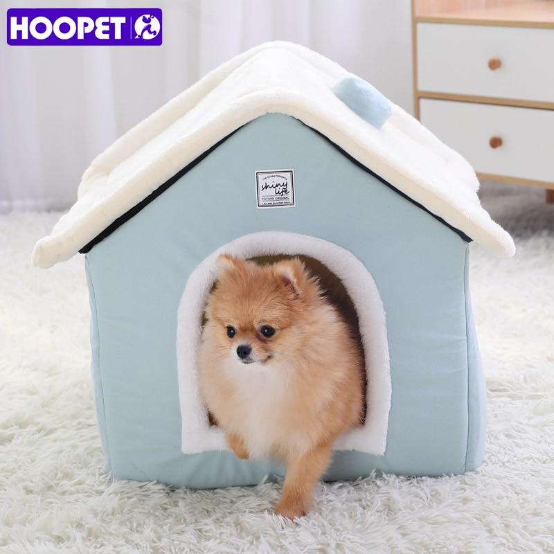 HOOPET-بيت الكلب ، بيت القط الدافئ ، كهف ، عش الأرانب ، قابل للغسل ، حصيرة قابلة للإزالة ، سرير نوم مريح للقطط