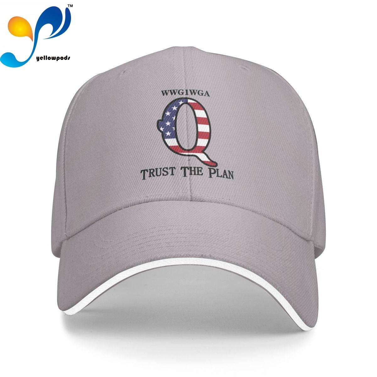 Q Patriot Trust The Plan WWG1WGA Кепка-тракер, бейсболка для мужчин, бейсболка с клапаном, мужские кепки, кепки с логотипом