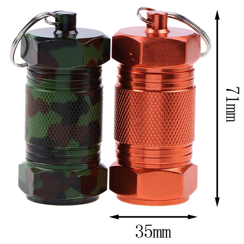 Waterproof Seal Tank Aluminum Capsule Container Drug Organizer Pocket Pill Cases For Outdoor Emergency Medicine Storage Bottles cnc pure titanium waterproof storage tank sealed tank titanium alloy high end portable medicine bottle outdoor pill cases