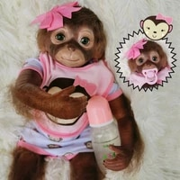 20inch reborn cute monkey dolls full body vinyl realistic newborndolls with clothes and toy accessories gift for kids