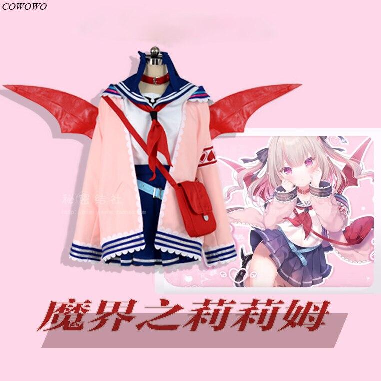 أنيمي! بدلة معركة من Vtuber hololimakaino Ririmu بدلة جميلة زي تنكري للهالوين زي حفلة كرنفال للنساء جديد