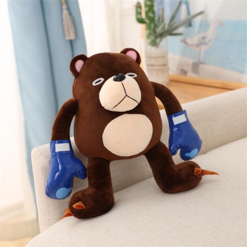 Плюшевая игрушка в стиле аниме, плюшевый медведь, медведь-скелет, мягкие набивные куклы-животные, игрушки, подарок на день рождения, Рождест...