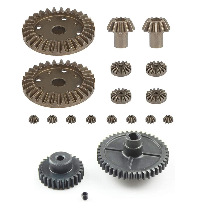 For Wltoys 144001 1/14 RC Car Spare Parts Upgrade Metal Motor Reduction Differential Gear enlarge