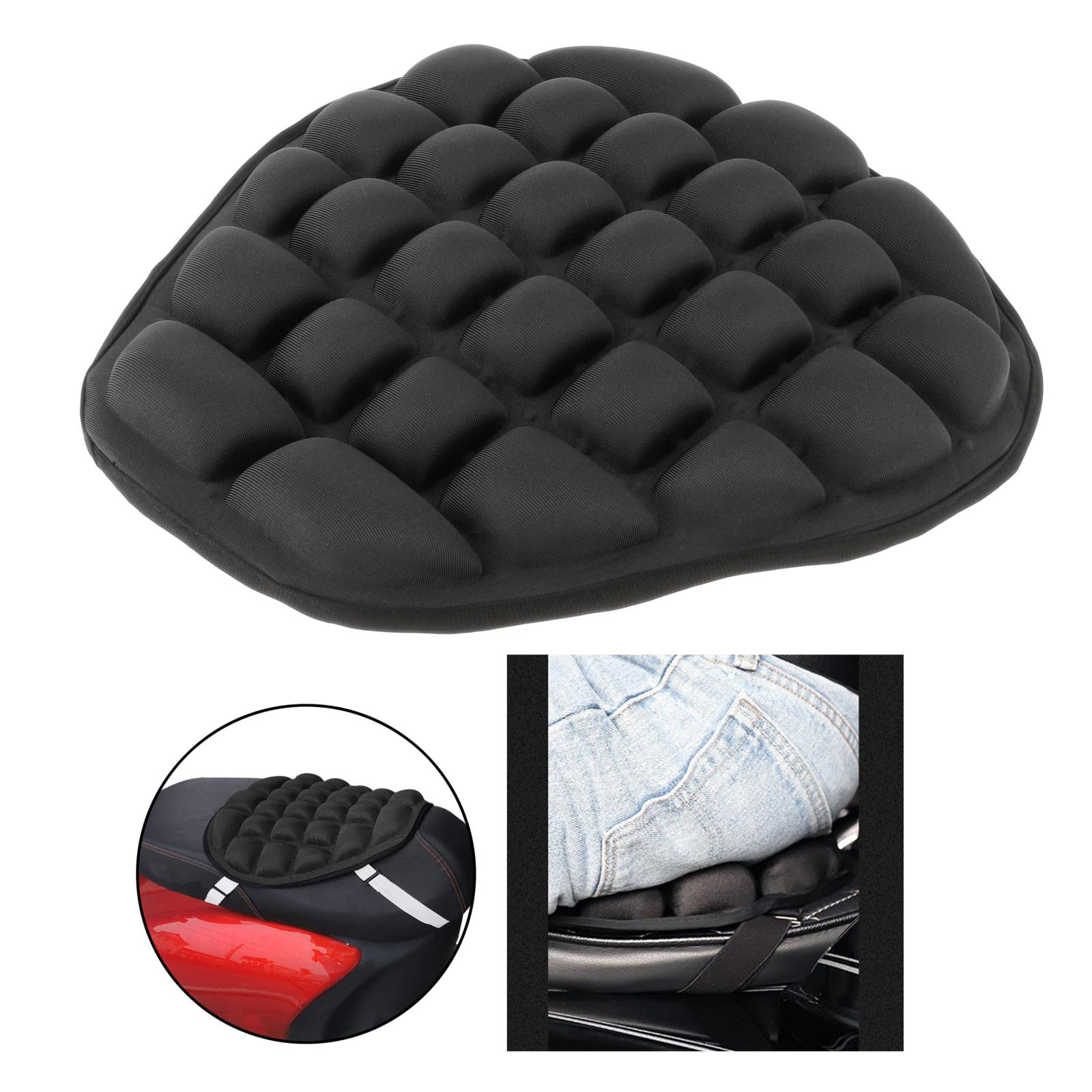Motorcycle Seat Cover Air Pad Motorcycle Air Seat Cushion Cover Pressure Relief  Protector for Cruiser Sport Touring Saddles