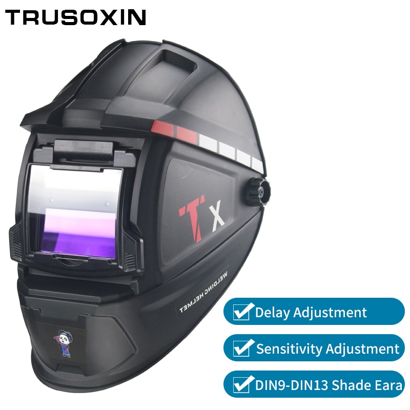 Máscara Solar para oscurecimiento automático/casco/tapa de soldador/lente de soldadura/gafas de ojos para máquina de soldadura y herramienta de corte por Plasma