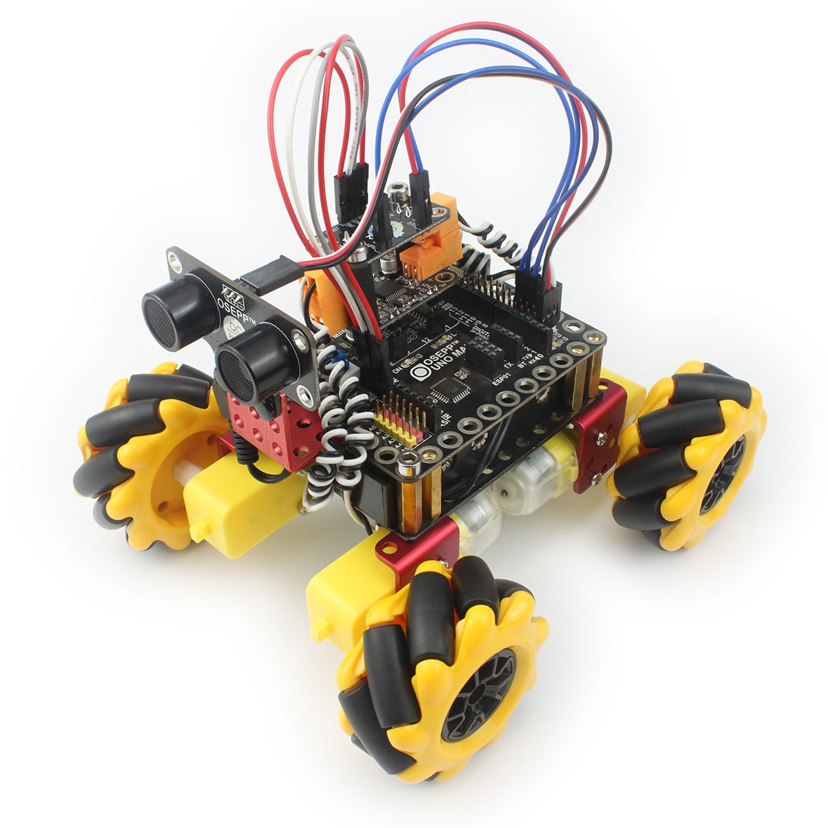 Mecanum عجلة RC سيارة روبوت عدة لاردوينو مع TT موتور خدش لعبة البرمجة الجرافيك الجذعية