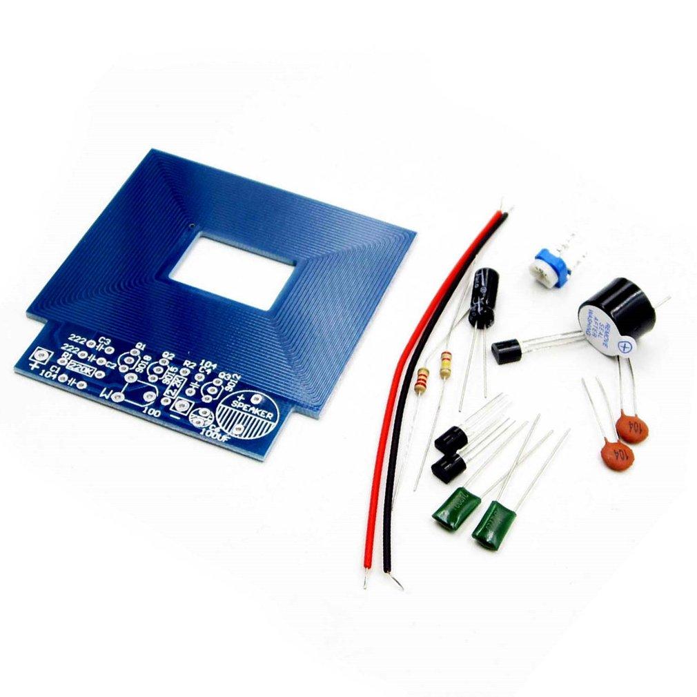 Metal Detector Scanner Unassembled Kit DC 3V-5V Suite Metal Sensor Board Module Electronic DIY Kits PCB Board Buzzer Capacitor diy pcb board for 62pcs capacitor array power supply rectifier board
