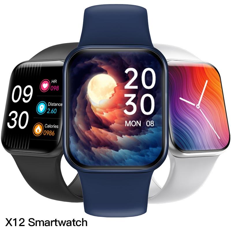 Aosexi X12 Smart Watch Full Touch Fitness Waterproof Bluetooth SmartWatch Sport watch Heart Rate Mon