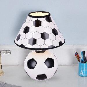 Cartoon Football Lamp Children's Bedroom Bedside Learning Eye Protection Reading Lamp