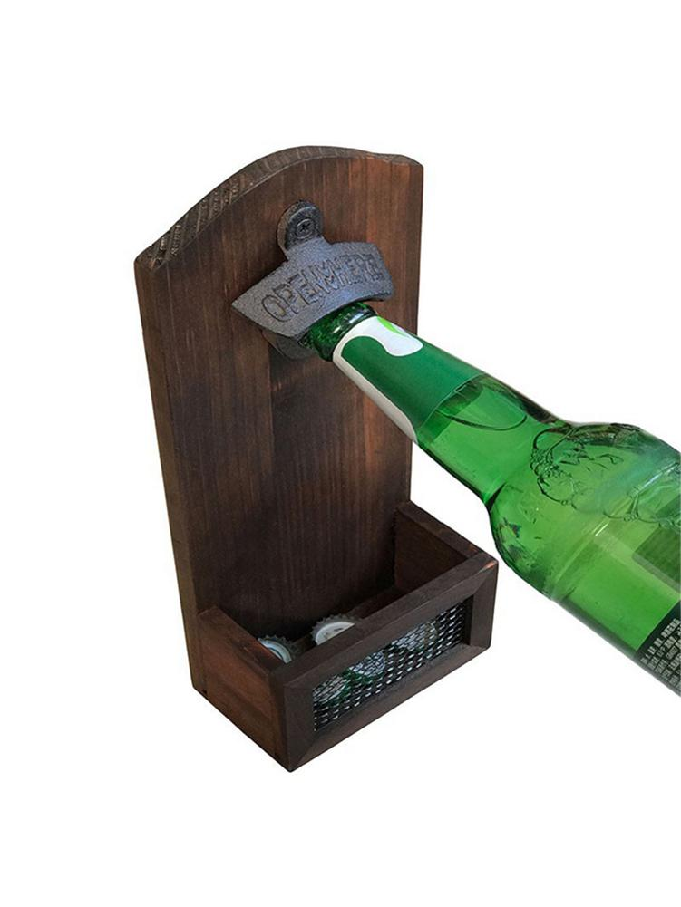 Beer Basket Solid Wood Wine Basket Wooden Wine White Wine Beer Storage Basket Pine Wooden Box Wine Wine Box Bar Bottle Opener