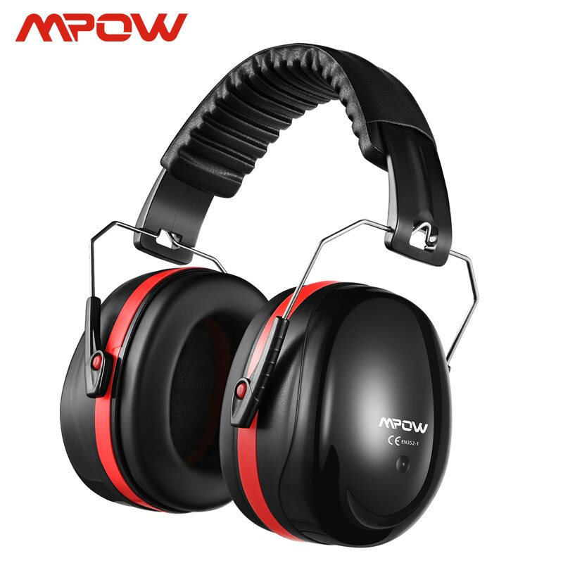 Orejeras de seguridad con reducción de ruido Mpow SNR 34dB, protección auditiva, espuma suave con bolsa de transporte para niños y adultos