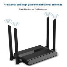 4G sans fil wifi routeur 300Mbps 4 ports routeur avec carte SIM USB WAP2 802.11n/b/g 2.4G routeur 10*100M sans fil Wifi répéteur jusquà
