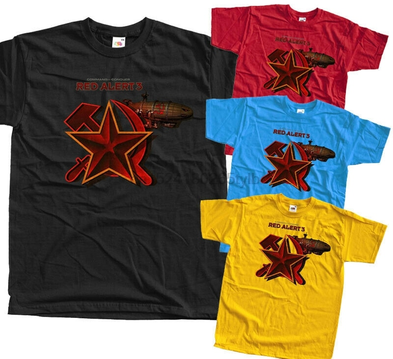 Comando Conquer alerta roja-Kirov V2 Camiseta de Juego (negro) todas las tallas S-5XL