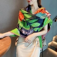 70 cashmere 30 silk scarf women fashion double sided butterfly flower shawl stole hand rolled kerchief 135135cm