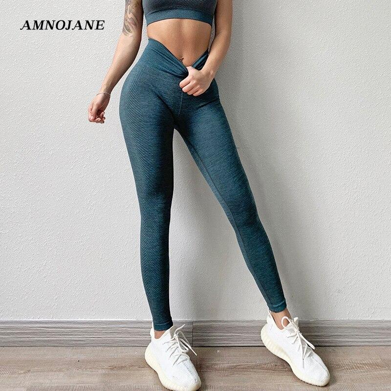 Colorvalue ropa de gimnasio Fitness XL pantalones malla de yoga Running Sport Femme Leggings sin costura de alta cintura mujeres Push Up pantalones de chándal