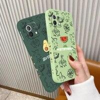 lemon liquid silicone case for xiaomi mi 11 11i 10t 9t camera protective soft phone back cover on 10 10s 9 8 poco f2 x2 f3 pro