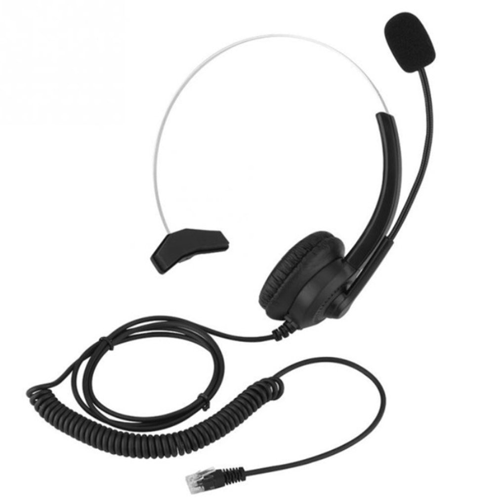 wantek corded telephone noise canceling mic quick disconnect for call center telephone systems with plt m10 m12 m22 amplifiers Call Center Headset With Microphone 2.5/3.5mm Plug Telephone Voice Interphone Headphone For Computer PC Game Volume Control
