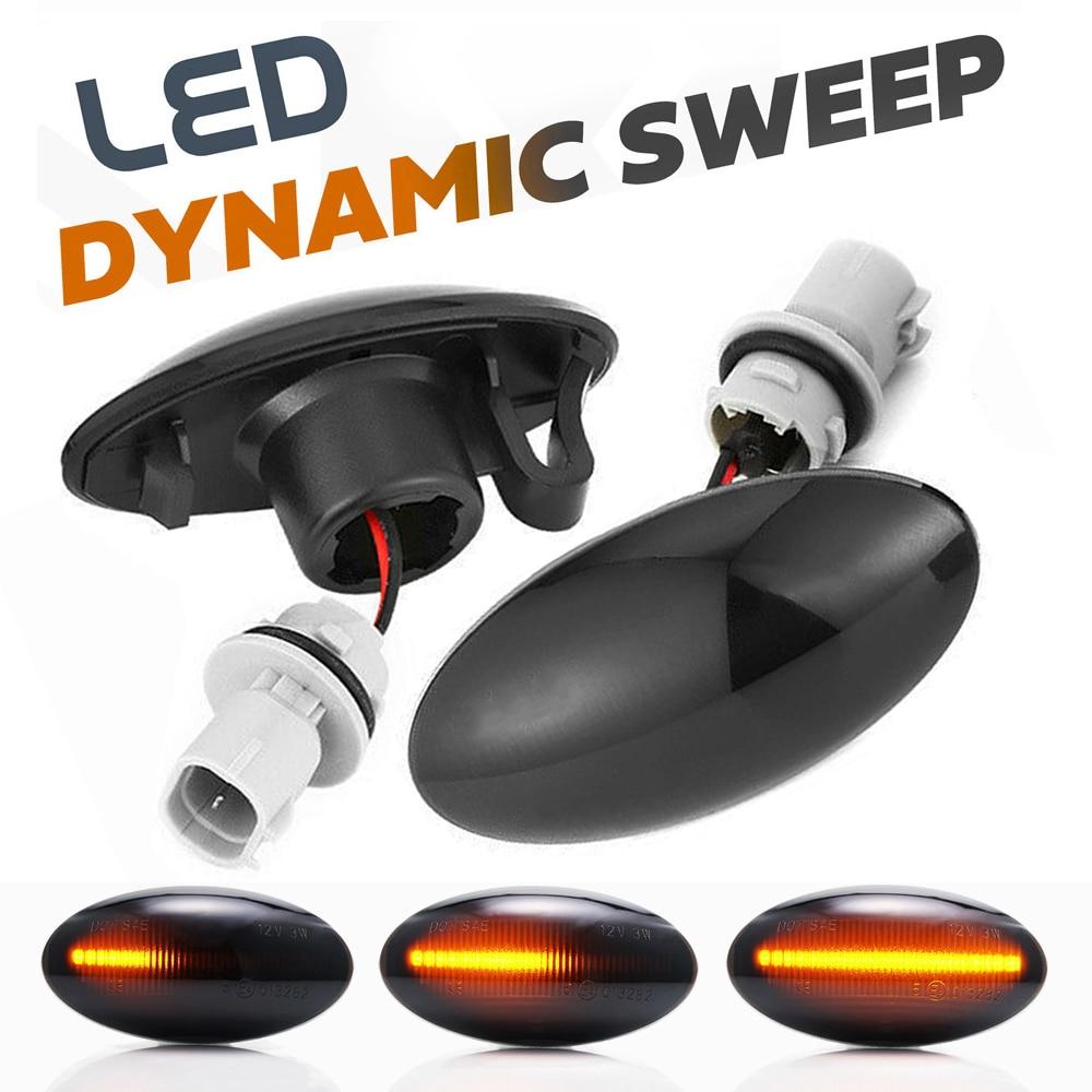 Indicador de luz LED dinámico lateral para Suzuki SX4 EY GY s-cross GL APV Arena Alto Splash EXB22 XL7 JC Swift Fiat Sedici