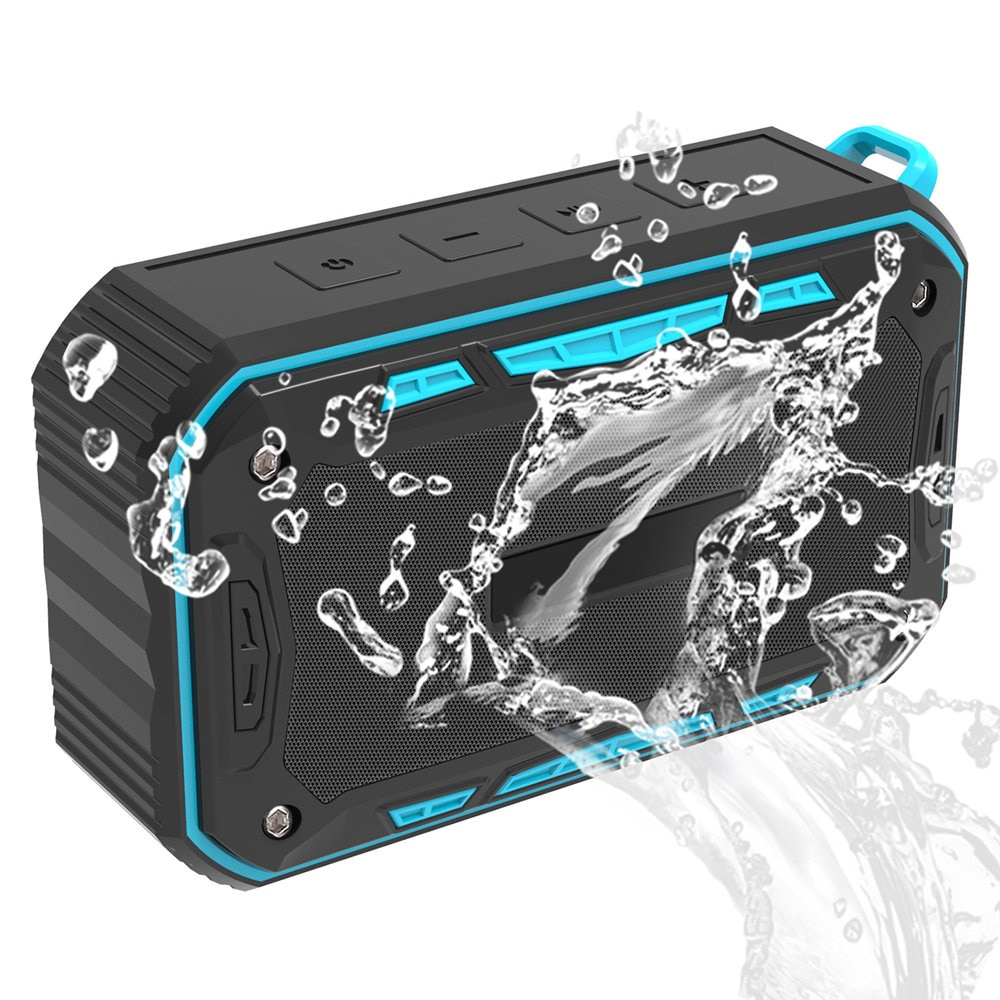 New outdoor waterproof speaker IP67 Bluetooth audio card subwoofer Wireless Portable Bluetooth Speaker With bicycle stand enlarge