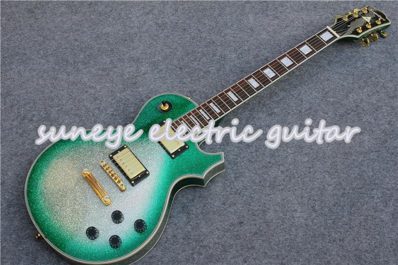 Guitarra Eléctrica personalizada Suneye con acabado púrpura brillante de alta calidad con...