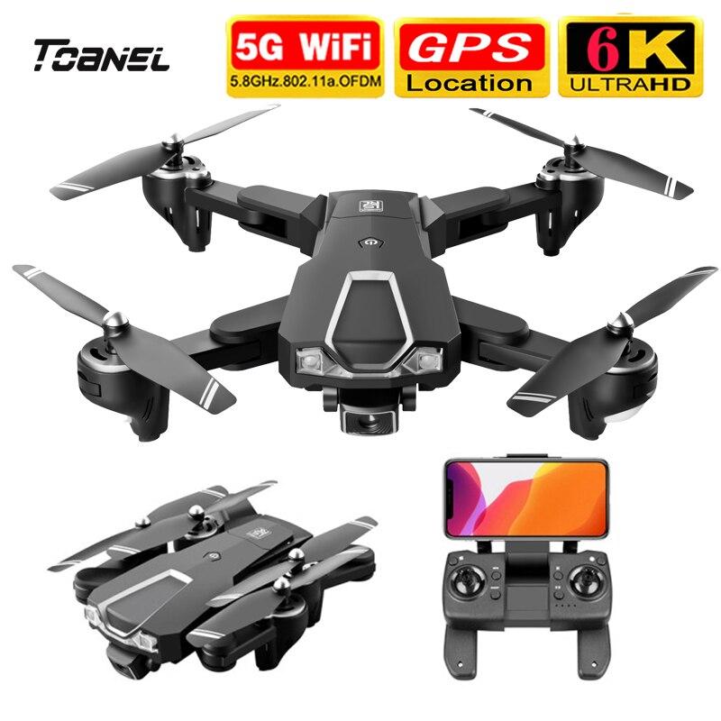 LS-25 Drone 5G WIFI GPS مع 6K HD كاميرا كاميرا مزدوجة Selfie وضع اتبعني صورة في الوقت الحقيقي نقل طوي RC Quadcopter