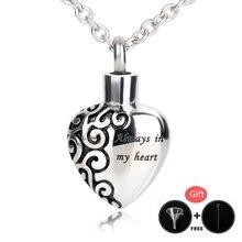 BOFEE coeur urne collier cendres pendentifs graver crémation mémorial médaillon 316L acier inoxydable mode bijoux cadeau femmes hommes