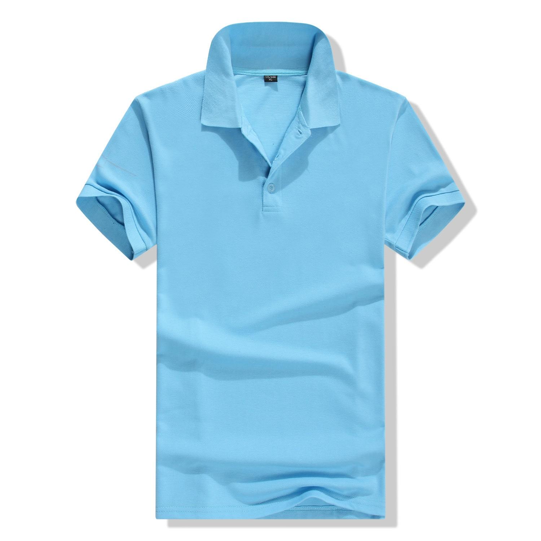 LXS22 Женская хлопковая однотонная тонкая рубашка поло с коротким рукавом и отворотом