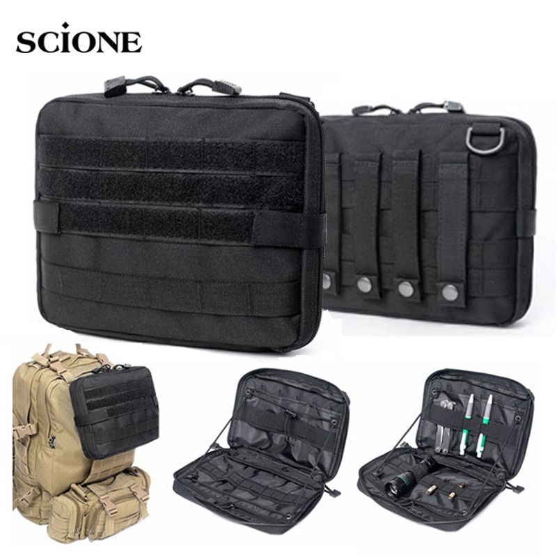 excellent elite spanker waterproof military tactical nylon hunting pouch bag multi function outdoor backpack hiking shoulder bag EDC Military System Tactical Bag MOLLE Backpack Army Bags Pouch Outdoor Sport Multi-function Waterproof 1000D Nylon Bag XA732WA
