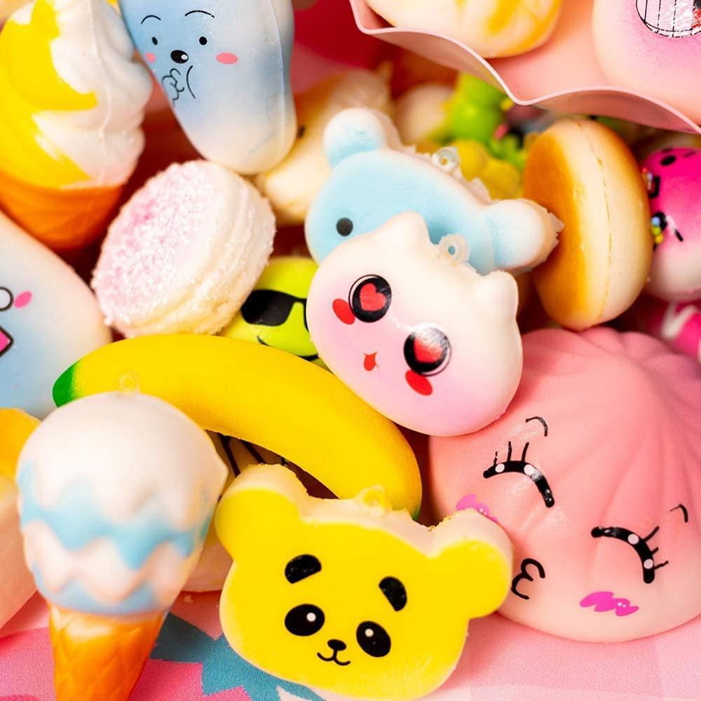 Random 5pcs/Pack No-Repeat Squishy Ice Cream Scented Slow Rising Kawaii Simulation Lovely Toy Soft Food Squishy Toy Squishies enlarge