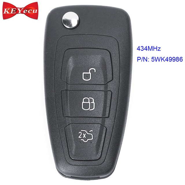 Keyecu para ford grand c-max foco mondeo remoto chave fob 434mhz fsk 5wk49986 id63 chip