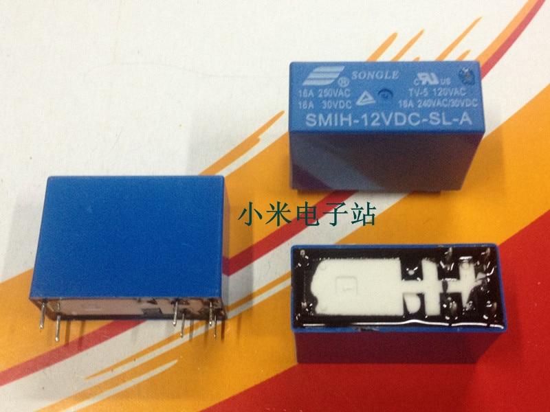 SMIH-12VDC-SL-A أغنية الموسيقى التتابع 16A 250VAC 6 أقدام مجموعة من فتح عادة HRM2H