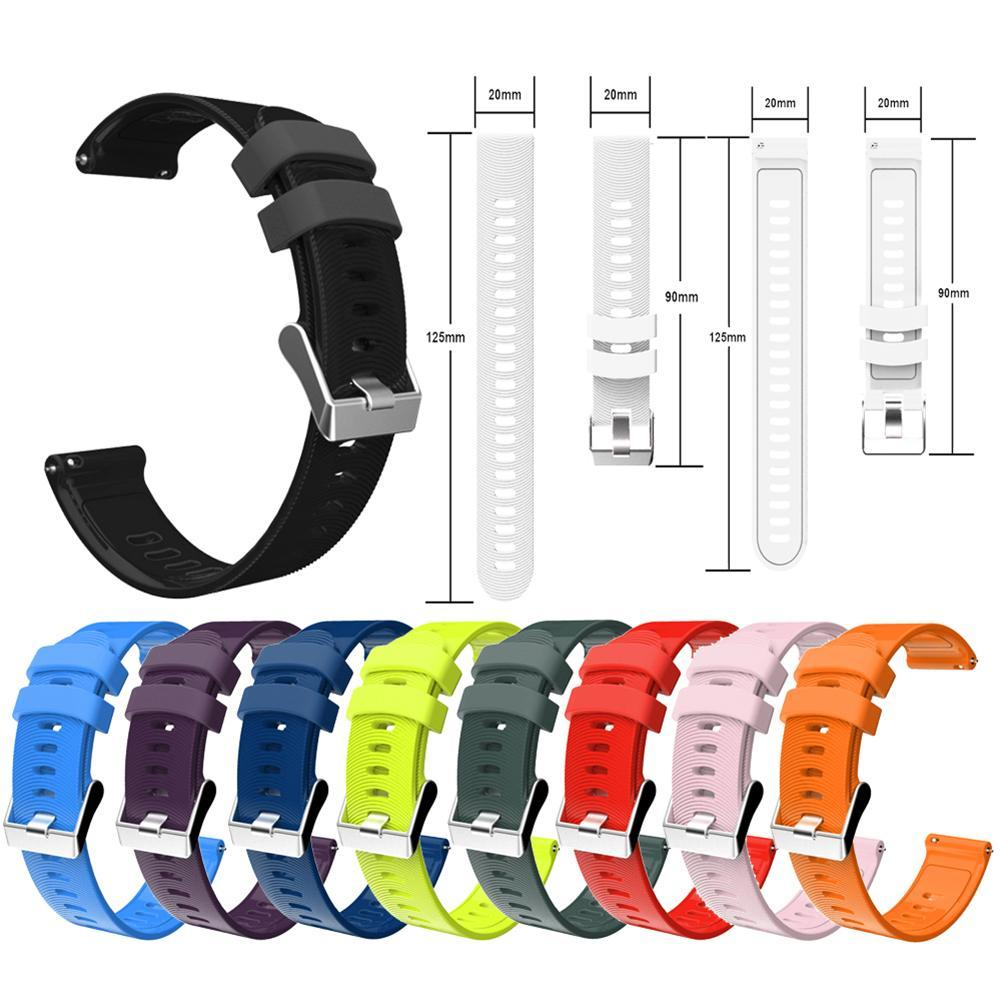 20mm Replacement Soft Silicone Watch Strap Band for Gar-min Forerunners 245M 645 Wearable Devices Smart Accessories