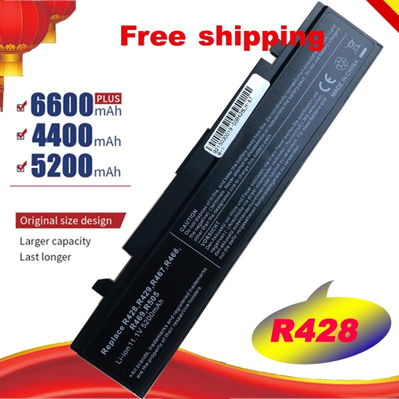 Nueva 5200mAh para SAMSUNG NP-R519 R470 R428 Q320 R478 batería R530 R522 R519 AA-PB9NC6B R520 envío gratis