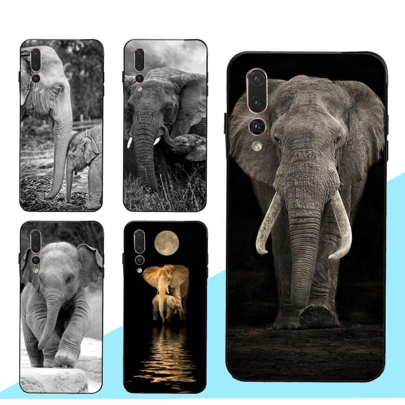 Bebê Elefante Caso Lua para Huawei Honor 20 10i 7A Pro 7C 9 10 Lite 8A 8C 8S 8X 9X Nova 5T Y6 Y7 Y9 2019