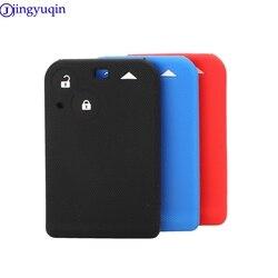 Jingyuqin remoto 2 botões caso chave do carro de silicone para renault kadjar clio megane koleos logan cartão cénico
