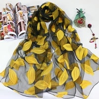 2021 hot sale silk scarf womens summer breeze lightweight sheer wrap and shawls bandana beach organza gauze lace hollow scarf