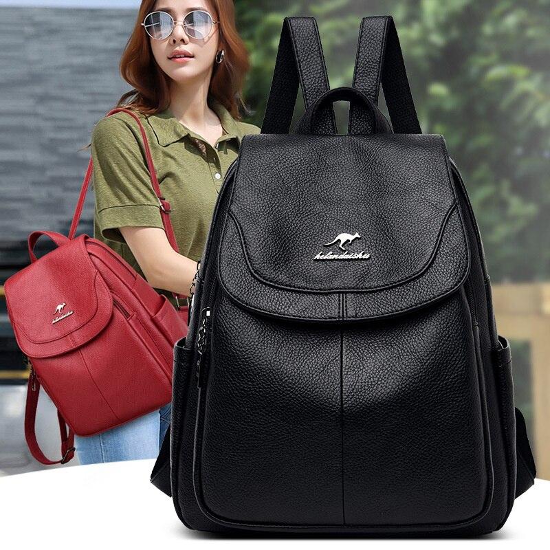 Кожаный рюкзак с узором Личи, новый женский рюкзак для отдыха, трендовый уличный женский кожаный рюкзак