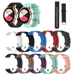 20mm Soft Silicone Strap Band for Samsung Galaxy Watch Active 2 for Samsung Galaxy Watch3 41mm / Watch 42mm Watchband